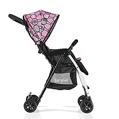 Brevi - Kinderwagen Mini Large Ultraleicht Pink Eulen 2017