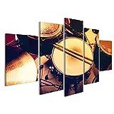 islandburner Bild Bilder auf Leinwand Drums konzeptionelles Bild. Bild von Trommeln und Trommelstöcken Schlagzeug Wandbild Leinwandbild Poster DMN