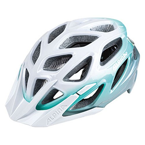 Alpina Mythos 3.0 Helmet white-smaragd 2018 mountainbike helm downhill