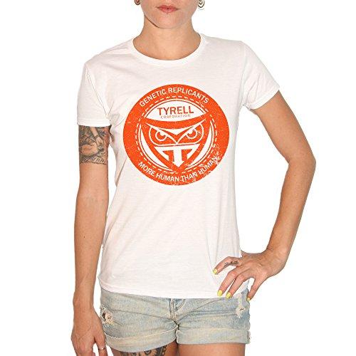 T-shirt Blade Runner Tyrell Corporation–by Brain Factory blanc