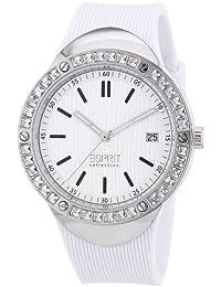 Esprit Damen-Armbanduhr Eunomia white Analog Quarz Silikon EL101982F02