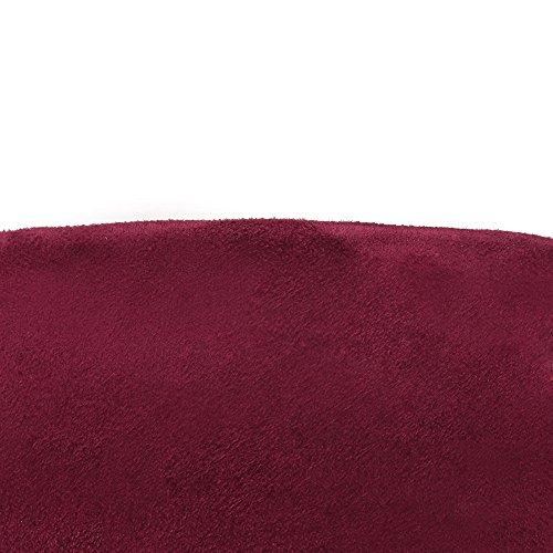 VogueZone009 Femme Tire Plate-Forme Étanche Couleur Unie Haut Élevé Bottes Rouge