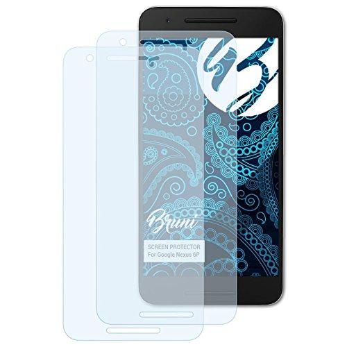 Bruni Schutzfolie für Google Nexus 6P Folie, glasklare Bildschirmschutzfolie (2X)