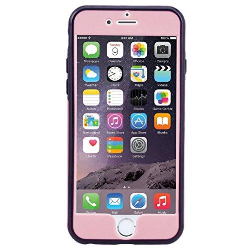 SMART LEGEND iPhone 6 Plus/6S Plus Weiche Silikon Hülle Bumper 360 Grad Full Body Protection Schutzhülle Hülle Handyhülle Clear Etui Ultra Slim Design Glatt Einfarbig Weich TPU Handy Tasche Soft Case  Rosa