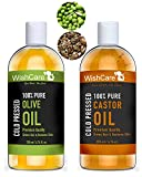 #9: Wishcare Cold Pressed Castor & Olive Carrier Oil - 200Ml Each