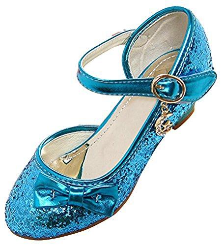 dchen Prinzessin Schuhe Tanzschuhe PU Leder Strass Applikation Knöchelriemchen Halbschuhe mit Absatz (31, Style 3) (Kostüme Für Verkauf Uk)