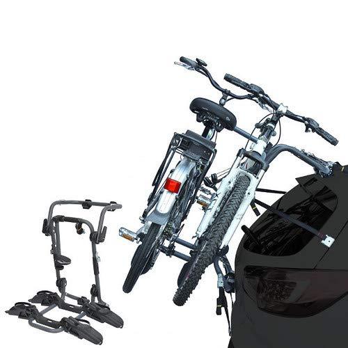EMMEA PORTABICI Posteriore Auto 2 Bici Regolazione Cinghie Biciclette Compatibile con BMW Serie 5 4P (96-02) Acciaio CARICO Max 45KG Pure Instinct R
