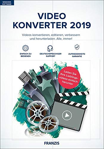 FRANZIS Video Konverter 2019|2019|4K-UHD- und HD-Videos|-|Für PC Windows 10 / 8.1 / 8 / 7|Disc|Disc -