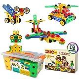 ETI Spielzeug | STEM (MINT) Lernen |Original 101 Teile Erzieherische Konstruktion Technische Aufbau Blöcke Set für 3, 4 und 5+ Jahre alte Jungen & Mädchen | Kreatives Spaß Kit | Bestes Spielzeug als G