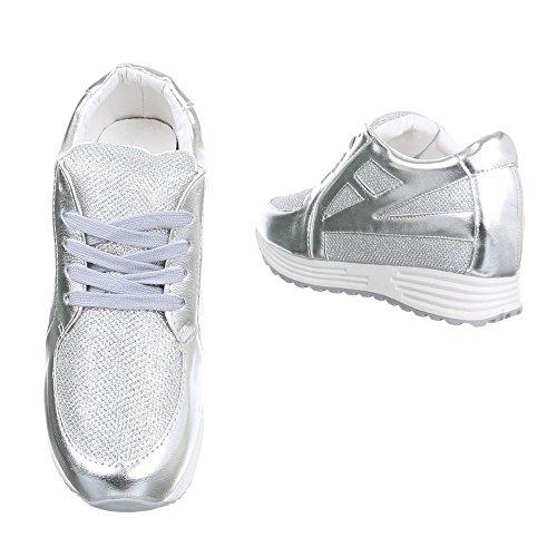 Ital-Design , chaussons d'intérieur femme Silber