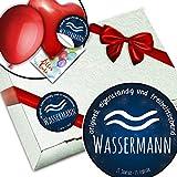 Sternzeichen Wassermann + Geschenkbox dekorieren + Born in Februar