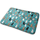 Salon Towels Russian Woodland Cat Entrance Floor Mat Home Decor Carpet Indoor Rectangle Doormat Kitchen Comfort Mats