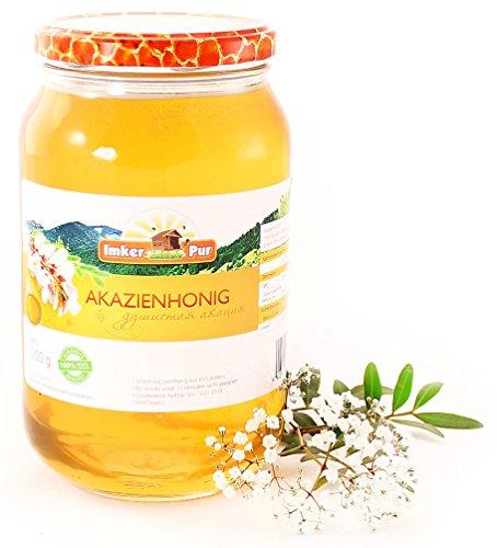 ImkerPur Akazien-Honig, 1200g, kaltgeschleudert, mild-aromatisch, mit einer feinen Marzipan-Note