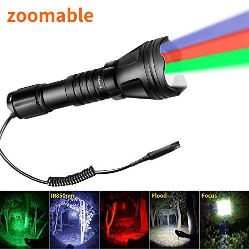 Odepro KL52 zoombare Taschenlampe rot grün weiß ir850 LED Lampe