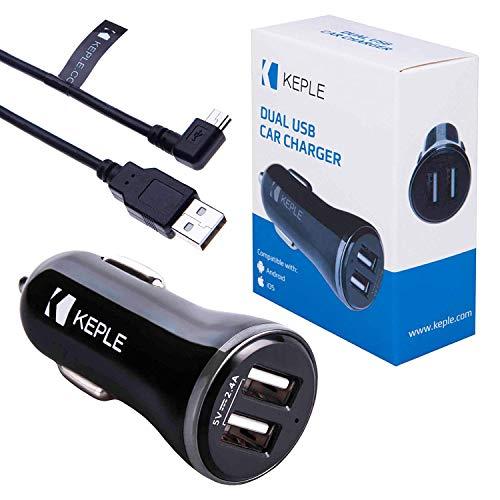Caricabatterie auto Mini USB Cavo adattatore Compatibile con auto a doppia porta 2.4 Garmin DriveSmart 51LMMTS,40LM,60LM,51LMTD,50LM,61 LMTS,61LMTD,Nuvi 2595LMT,2599 LMTD,2548LMTD,57LM,2599LMTD | 1m
