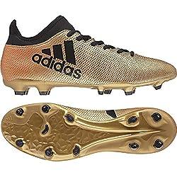 adidas X 17.3 FG, Chaussures de Football Homme, Or Gold/Schwarz/Rot, 43 1/3 EU