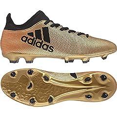 Idea Regalo - adidas X 17.3 FG, Scarpe da Calcio Uomo, Oro Gold/Schwarz/Rot, 41 1/3 EU