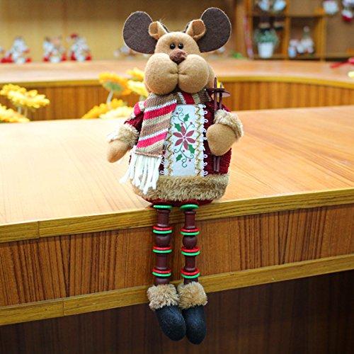 Miok seduto decorazioni di natale, babbo natale, neve cervi, pupazzo di neve, warm your intero winter (best gift for yourself e bambini) snow deer