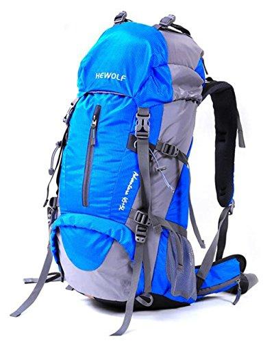 Mountaineering Rucksack Tasche wasserdichten Outdoor-Männer und Frauen wandern Reisen Folding Rucksack Reiten Royal Blue