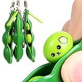 OHQ Compression Des Pois PresséS Haricots D'Amusement AléAtoires Squeeze Toys Pendentifs Anti Stressball Squeeze Gadgets DrôLes (Vert)