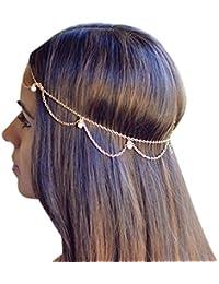 Goldene Blätter Stirnbandblatt Haarband reizende Perle hairband Retro