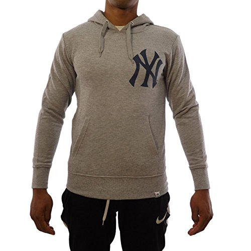 Majestic Sudadera Capucha MLB New York Yankees Noos Gamily Gris/Azul Talla: M (Medium)