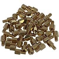 Tornillo - SODIAL(R) 50pzs Tornillo de laton Espaciador hexagonal de soporte de PCB M3 macho x M3 hembra 5mm