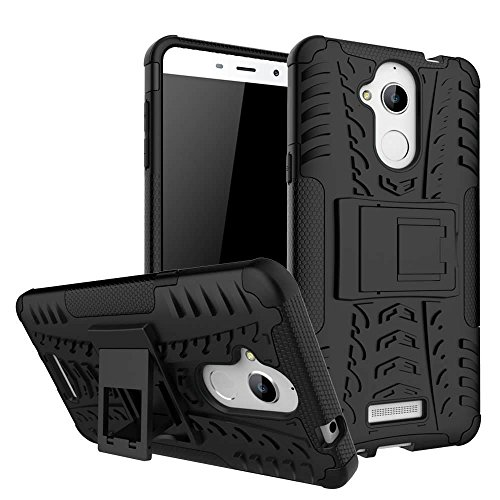 Dream2cool FOR Coolpad Note 5 Tough Hybrid Flip Kick Stand Spider Hard Dual Shock Proof Rugged Armor Bumper Back Case Cover For Coolpad Note 5(BLACK)