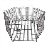 6 Pannello Cane Box Pet Esercizio Penna Metallo Grande Recinzione Gatto Coniglio Cucciolo Portatile Outdoor Kennel Cage RV Giocare Yard Animal Gate di Alta qualità