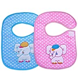 #7: Littly Premium Velcro Bibs Combo, Pack of 2(Blue, Pink)
