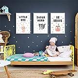XWArtpic Cartoon Süße Tiere Kaninchen Eule Wandkunst Drucke Kindergarten Leinwand Gemälde Geschenk Poster Bilder Kinderzimmer Wohnkultur 40 * 50 cm