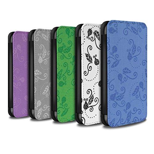 Stuff4 Coque/Etui/Housse Cuir PU Case/Cover pour Apple iPhone X/10 / Rose Design / Motif Coccinelle Collection Pack (9 pcs)