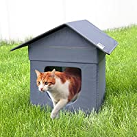 Kitty City Outdoor Stackable Cat House, Cat Cube, Water Resistant Condo