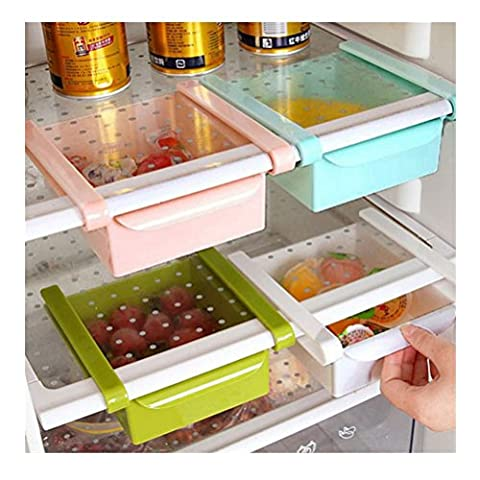 Space Saver Fridge Storage Sliding Drawer Freezer Refrigerator Organization Shelf