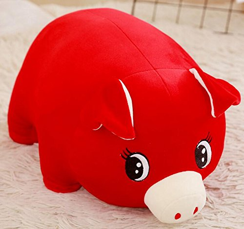 (EoamIk Niedliche Stofftiere Baby Weiche 15 cm Plüsch Schwein Spielzeug Gefüllte Animierte Schwein Tier Puppe für Kinder Geschenk Zimmer Dekoration (rot))