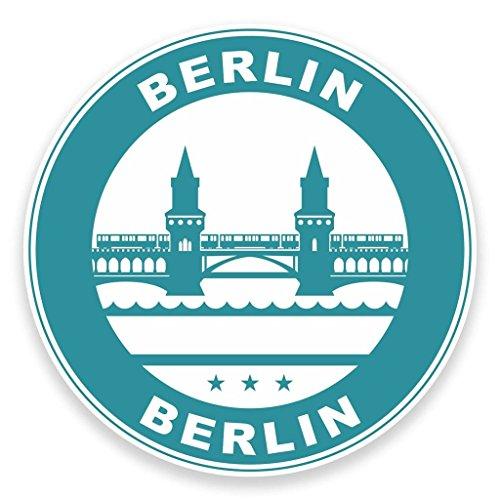 2 x Berlin Deutschland Fenster kleben Aufkleber Auto Van Wohnmobil Glas #9314
