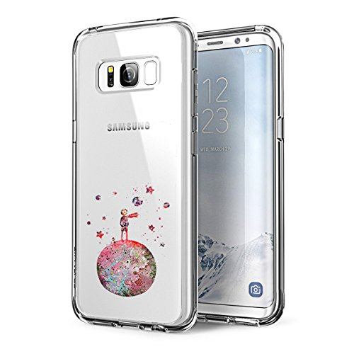 Galaxy S8 Cover Clear,Galaxy S8 Plus Custodia Simpatici Animali Design Samsung Galaxy S8 S8 Plus TPU Sweatproof Anti Scivolo Antiurto Anti-Scratch Case (Piccolo Principe, Samsung Galaxy S8)