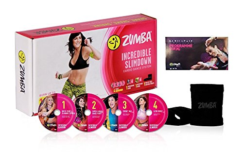 Zumba Incredible Slimdown Set mit 4 Dvds in Deutscher Sprache/Menüführung +Stülper + Ernährungsplan