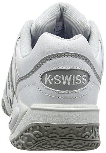 K-Swiss Performance Accomplish Ltr Omni, Chaussures de Tennis Femme Blanc (White/silver/glcrgray 107)
