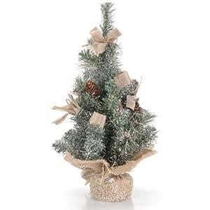 k nstlicher weihnachtsbaum im juttebalen mit deko 40 cm. Black Bedroom Furniture Sets. Home Design Ideas