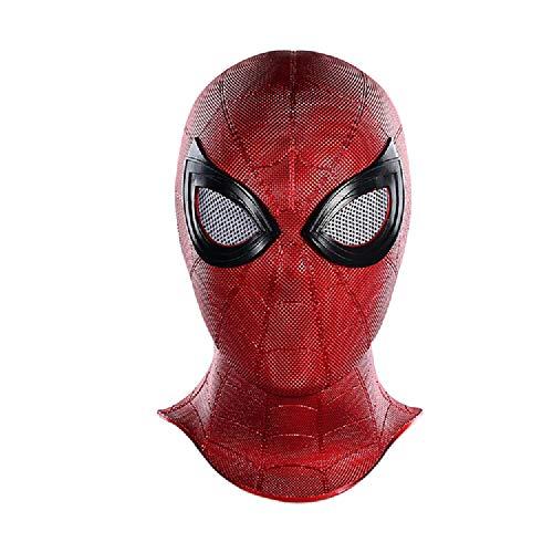QWEASZER Peter Parker Spider-Man Eisen-Spinne Maske Kopfbedeckung Marvel Avengers Weich-PVC-Vollgesichtsmaske Halloween Film Cosplay Props Zubehör,Iron Spider Spiderman-OneSize (Peter Parker Spider Mann Kostüm)