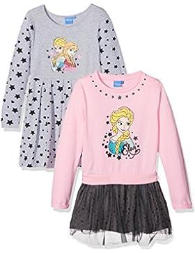 FABTASTICS Frozen Eiskönigin Mädchen Jersey Kleider IM 2er Pack