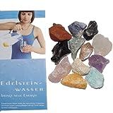 12 Wassersteine Rohsteine NEU - mit 12 STEIN - KARTEN für Edelsteinwasser mit Info Broschüre von Aktuelle Medien Verlag(3488)