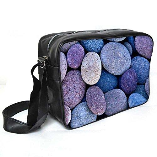 Snoogg Pebble Stone Beach Leder Unisex Messenger Bag für College Schule täglichen Gebrauch Tasche Material PU (Pebble Leder-umhängetasche)