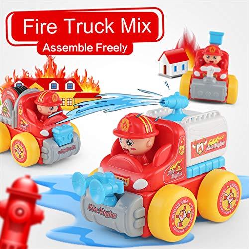 sche Lenkung Elektrische Musical SWAT Fahrzeug/Feuerwehrauto/Engineering Lkw Auto Spielzeug mit Lichtern Und Geräuschen,Coole Und Schöne Geschenk Set für Kinder(Rot, Feuerwehrauto) ()