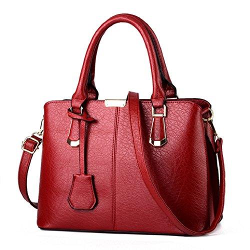 Pu ran, Borsa tote donna, Wine Red (vinaccia rosso) - 0GWK112350NHFAL5434 Wine Red
