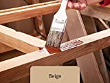 10L Holzlack seidenmatt für Parkett, Holzdielen, Holzfussboden, Gartenmöbel | BEKATEQ Holzschutzfarbe Farbe Holzfarben Holzversiegelung auf Wasserbasis für innen und außen hohe Deckkraft, keine Geruchsbelästigung - MADE IN GERMANY Farbe in BEIGE