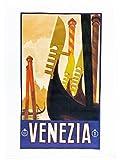 Venezia (Venedig)-Retro Style Poster, reise, groß