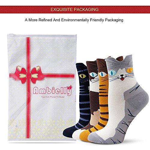 Ambielly Socken aus Baumwolle Thermal Socken Erwachsene Unisex Socken (4 Katzen) - 7