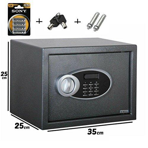 Caja fuerte para empotrar en pared electrónica numérica de acero con pantalla digital, Hotel, 35x...